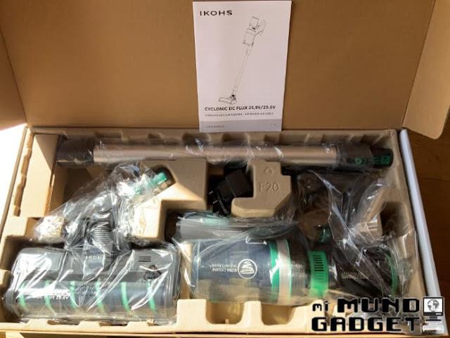 Ikohs Cyclonic DC-Flux 29,6V: Contenido de la caja 1