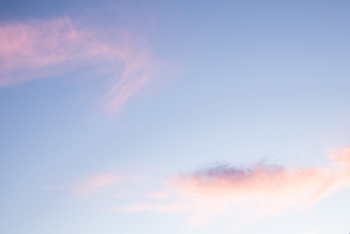 pink and blue sky