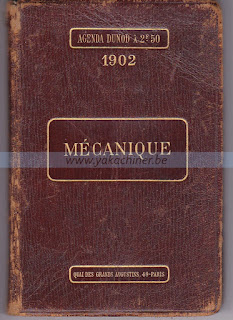 Mécanique, Agenda 1902