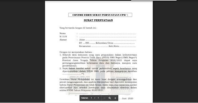 Download Format Surat Pernyataan Sehat Orang Tua