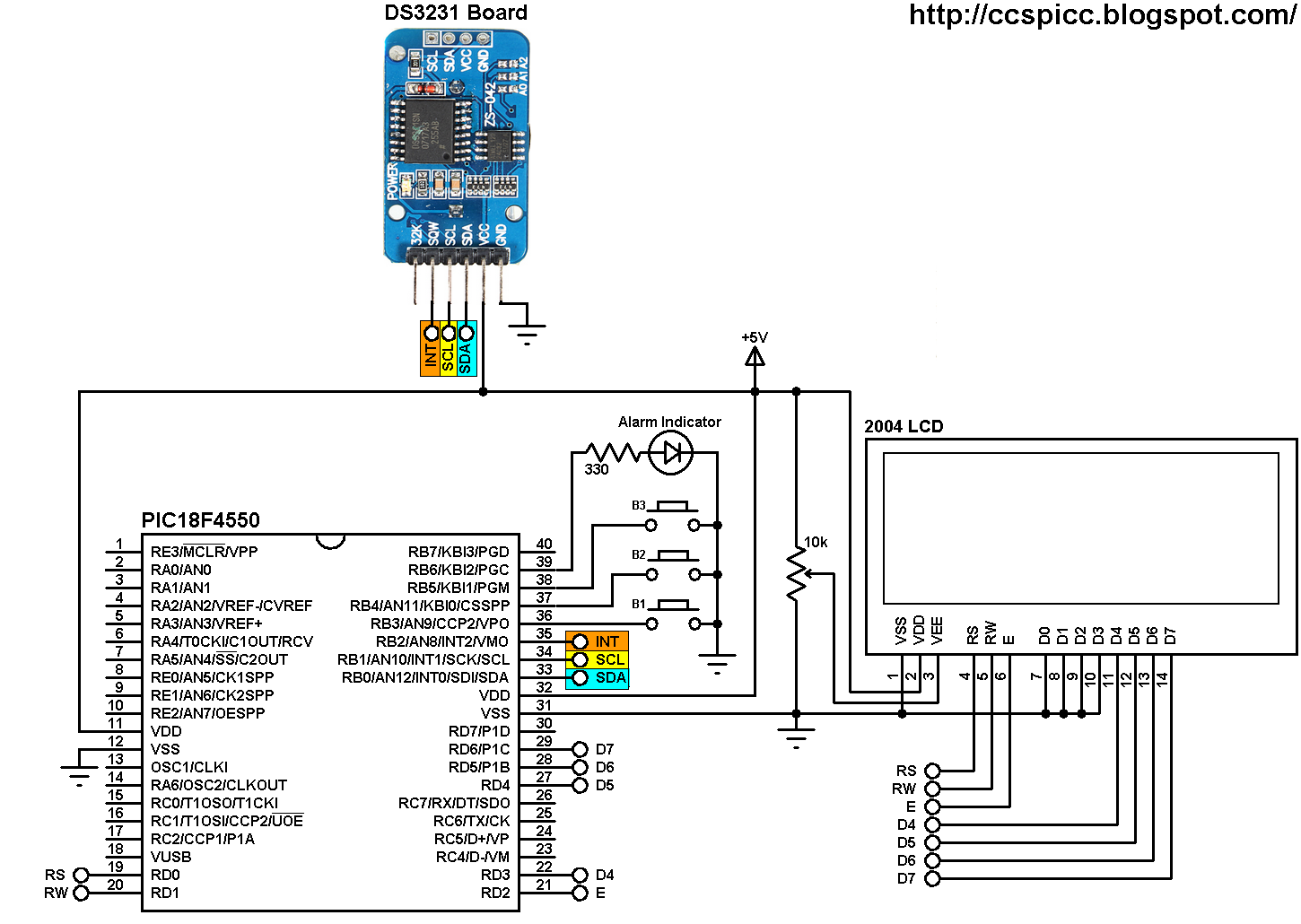 Real Time Clock With 2 Alarms Using Pic18f And Ds