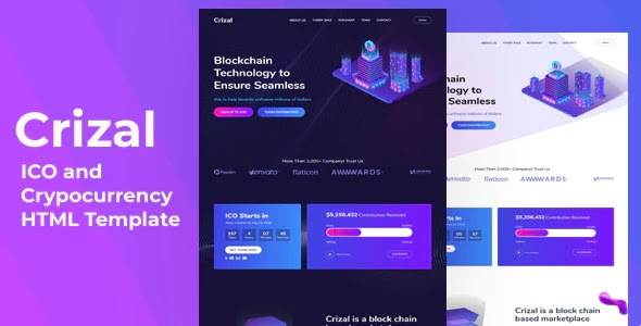ICO and Cryptocurrency Website Template