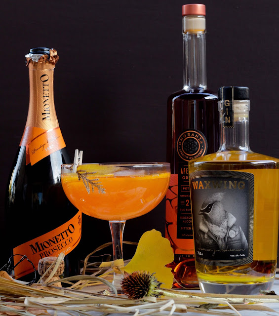 onoranza-aperitivo-orange,recette-de-cocktail,gin-waxwing,waxwing-gin,prosecco,madame-gin