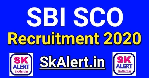 SBI SCO Various Post Recruitment 2020