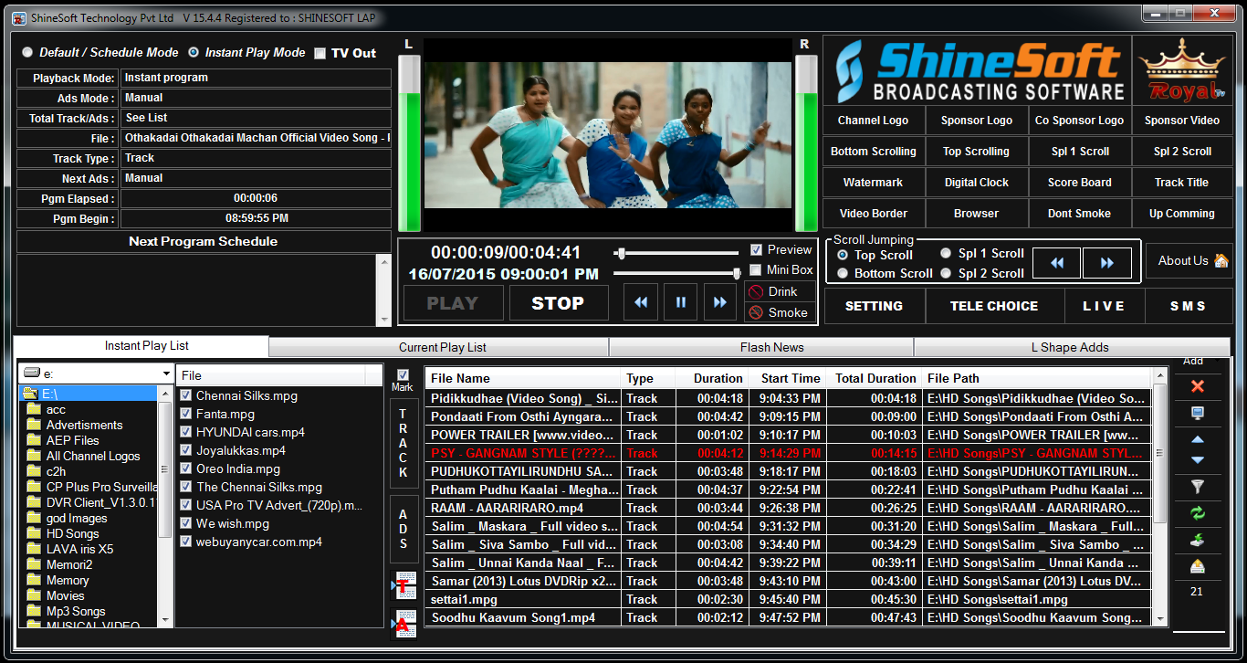 Cable Tv Software: Shine Soft Local Channel Cable Tv Playout