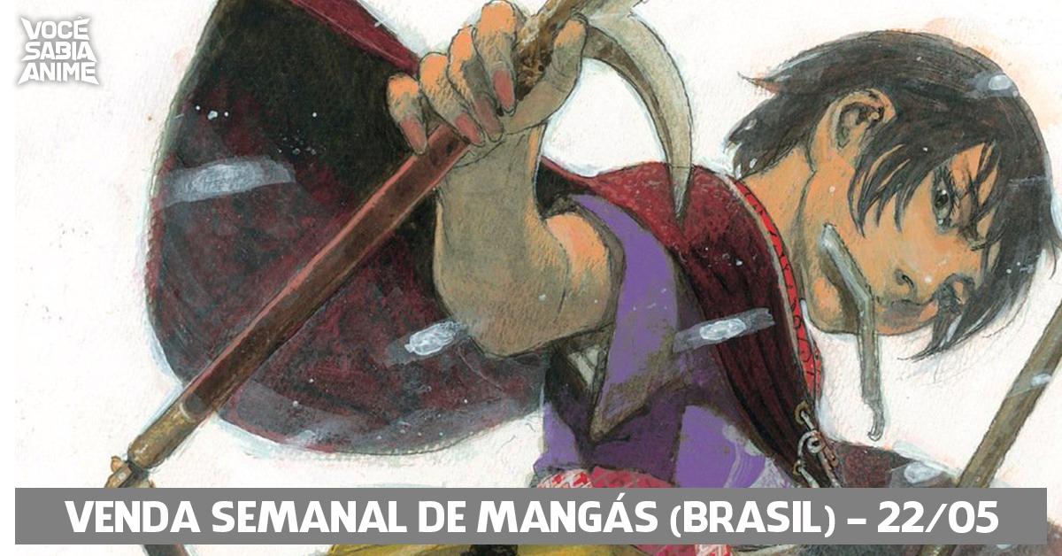 Ranking semanal de vendas de mangás no Brasil - 22-05