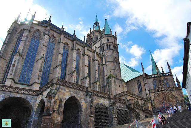 Catedral de Erfurt en la Turingia, Alemania
