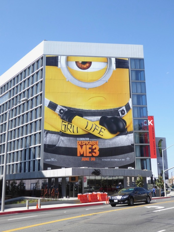 Giant Despicable Me 3 movie billboard