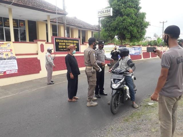 Terapkan Prokes 3M, Polres Tasikmalaya Gelar  Operasi  Yustisi  Gaktibplin