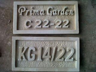 nomor rumah batu alam
