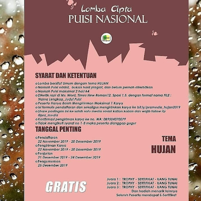 Lomba Cipta Puisi Nasional 2019 by Pramedia