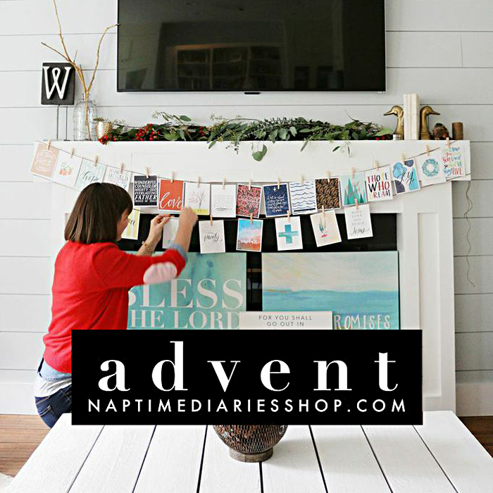 an introduction to the Naptime Diaries Advent Devotional and Calendar that doing with Shanna Noel and Stephanie Ackerman through December | art worship, art journal, mixed media, mini album