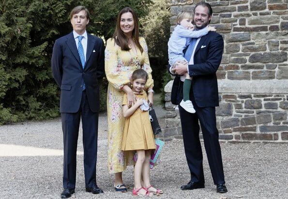 Grand Duke Henri and Duchess Maria Teresa, Hereditary Grand Duke Guillaume and Hereditary Grand Duchess Stephanie, Prince Felix, Princess Claire