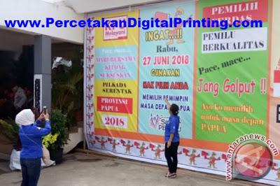 Jasa Percetakan Terdekat Spanduk Banner Umbul2 Bogor Cigombong Murah Desain Gratis Free Ongkir