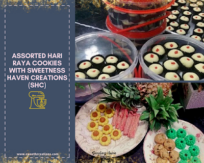 You should get: Assorted Hari Raya Cookies by Sweetness Haven Creations (SHC) – RM30-35 per jar of 40pcs