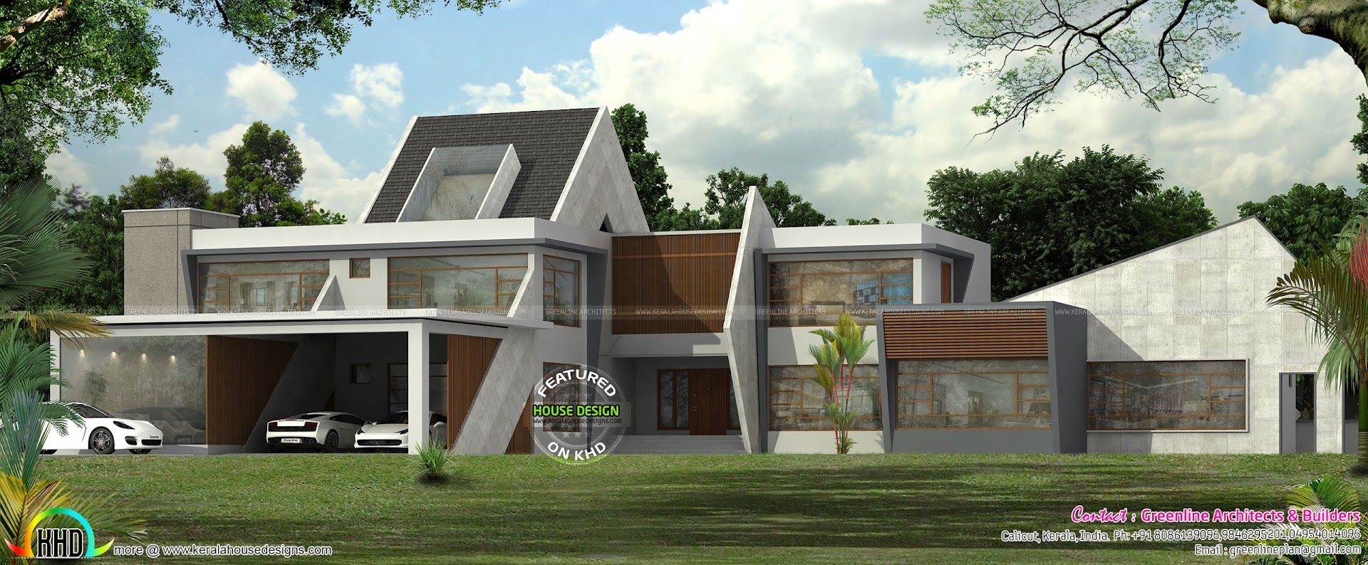Ultra modern contemporary house in kerala kerala home for Unique farmhouse plans