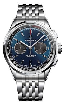 Breitling Premier B01 Chronograph 42 Blue & Black dial