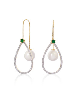 Contemporary Pearl Earrings by Anaqa
