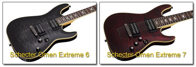 Guitarras Schecter de 7 Cuerdas