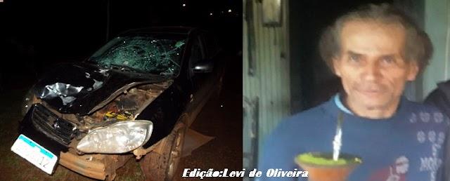 Pedestre atropelado na ERS 587 vem a óbito a caminho do Hospital São Vicente de Paulo de Passo Fundo