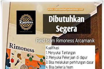 Lowongan Kerja Bandung Field Team Rimoness Arcamanik