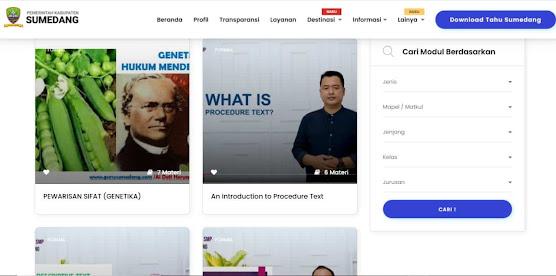 Konten di portal literasi web Tahu Sumedang