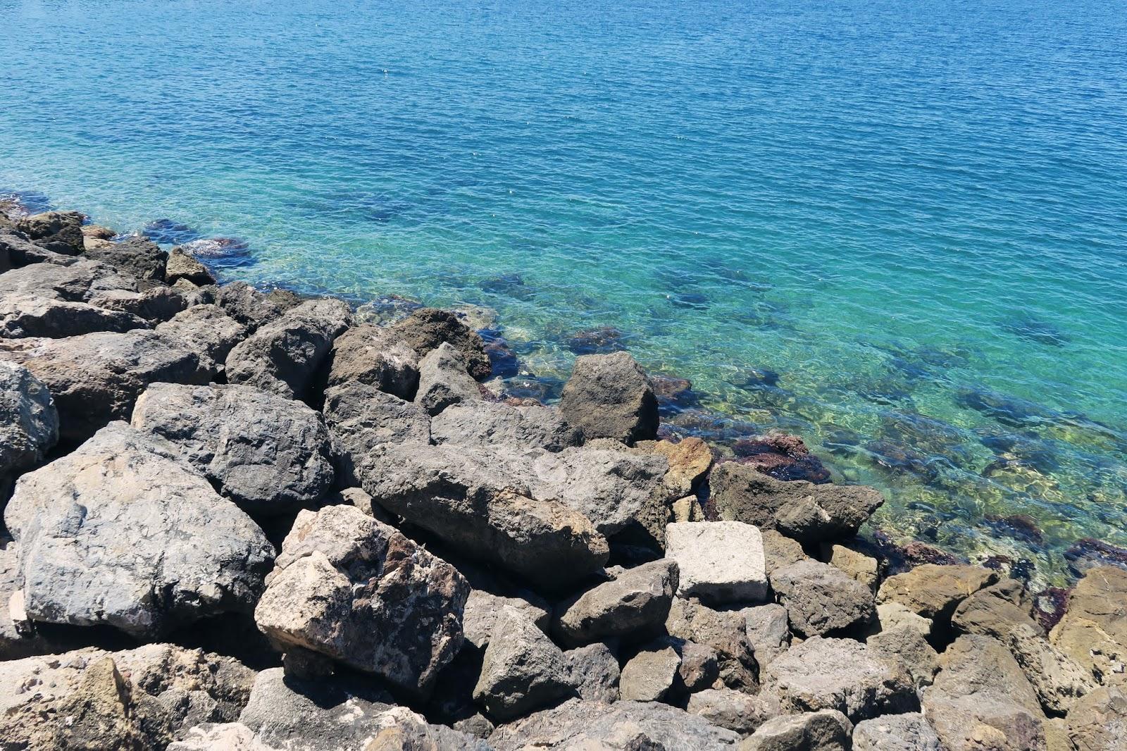 The sea near Almeria harbour