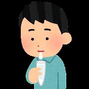 検体採取のイラスト(唾液)