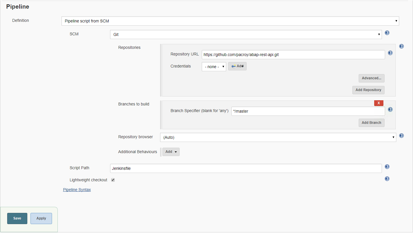 Sap Abap Central Continuous Integration In Abap Using Jenkins