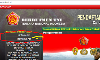 Langkah 2 Cara Pendaftaran TNI AD AL AU