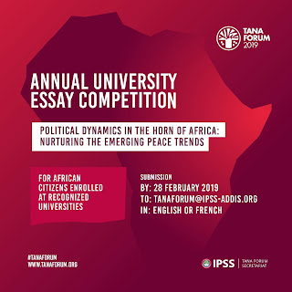 Tana Forum Annual University Essay Competition for Africans 2019/2020