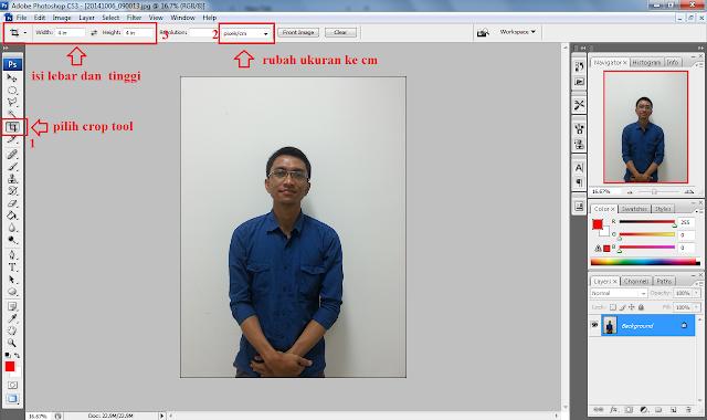 Membuat Pas Photo Dengan Mudah di Photoshop
