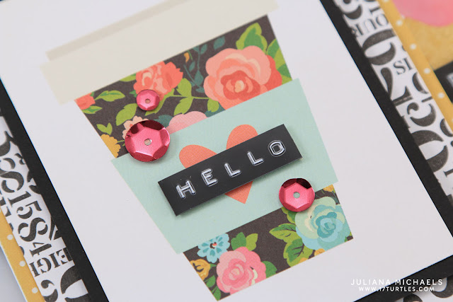 Roller Stamp Background Card Set by Juliana Michaels featuring PLUS Corporation Roller Stamp and Simple Stories Carpe Diem