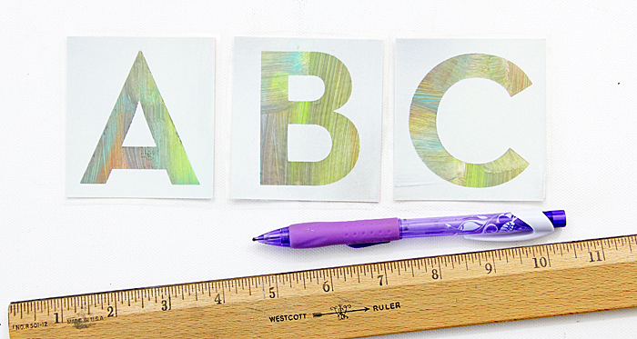 DIY Alphabet Flash Cards - Easy Peasy with Hazel & Ruby