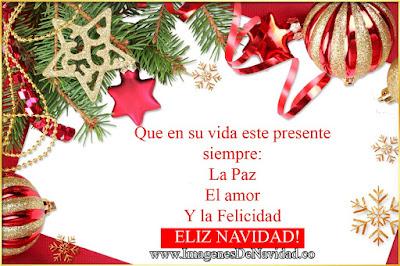 Postal de Navidad con mensaje para amigos