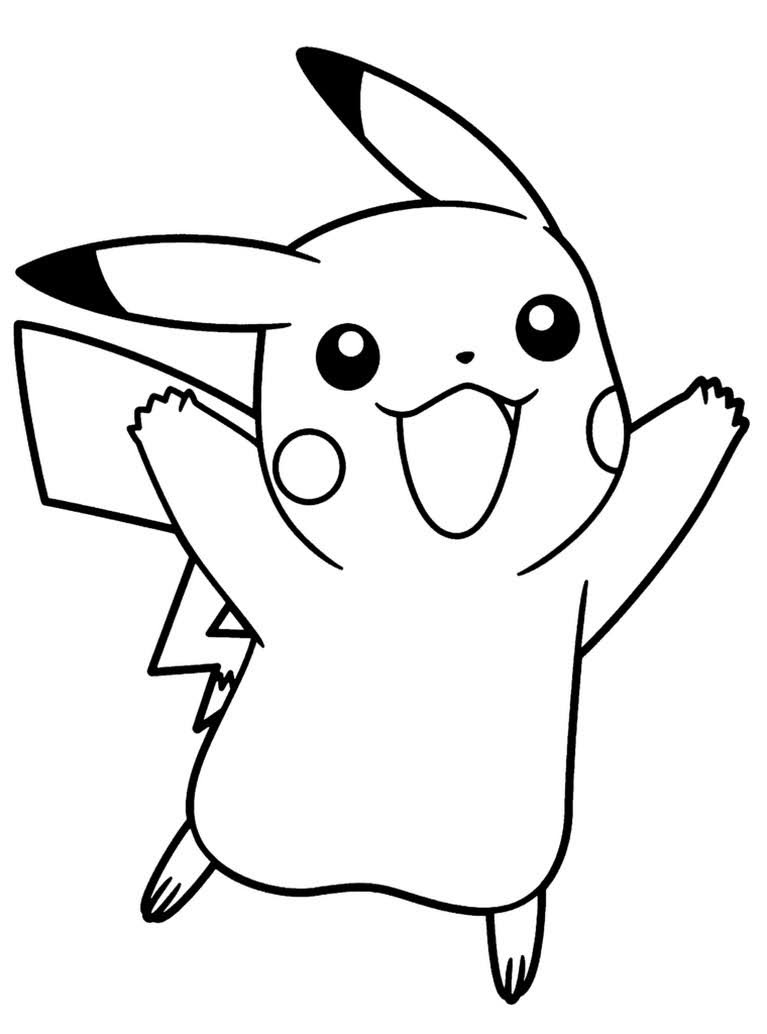cute cartoon characters pokemon pikachu coloring pages free printable