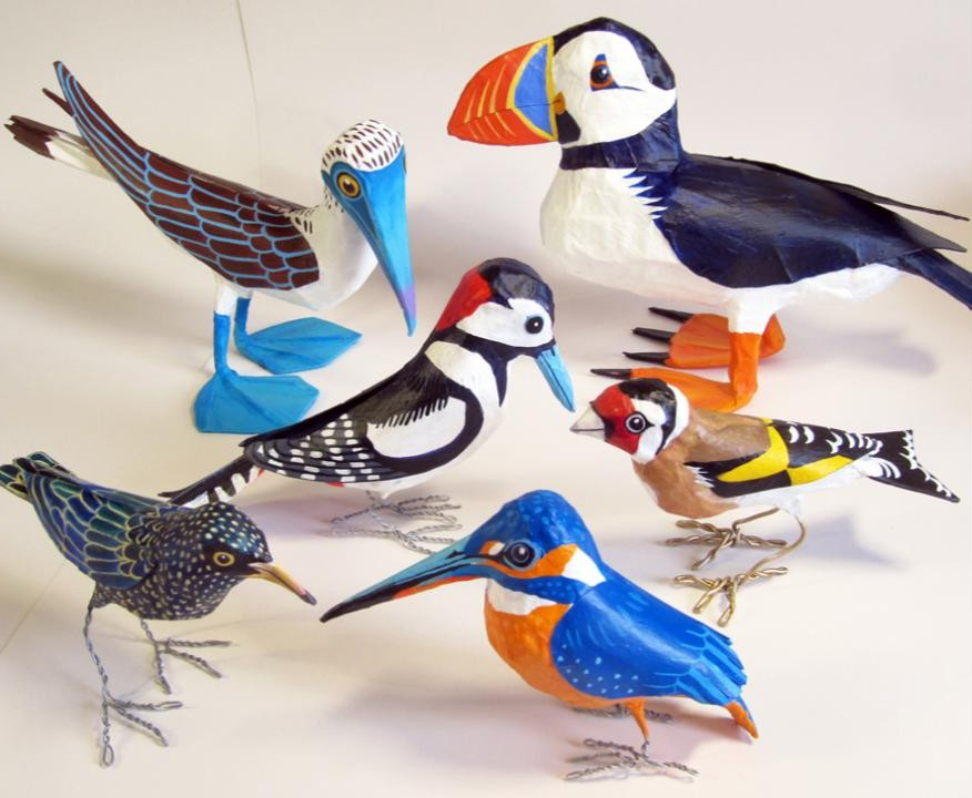 anatomically correct bird paper mache sculptures diy