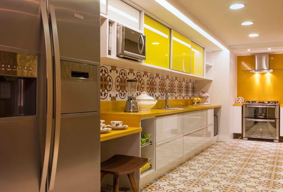 cozinha amarela casa cor