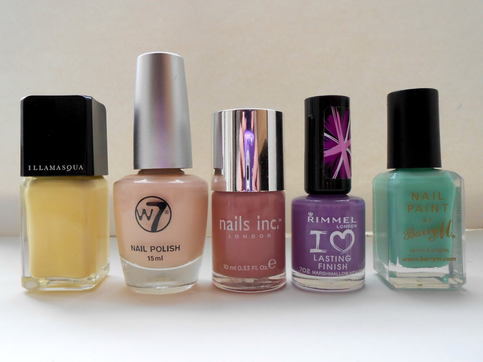 Top 5 spring nail polishes-guest post by peachy curves!