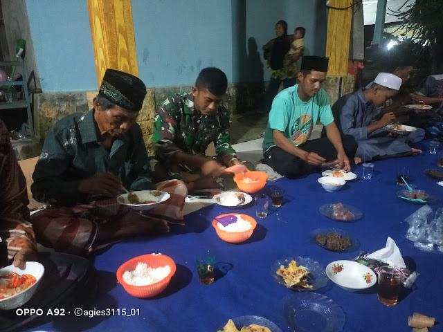 Satgas Tmmd Di Undang Warga Dalam Pembacaan Surah Yasin Dan Haul Warga Desa Lok Batu