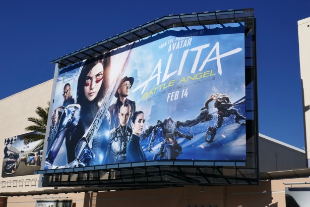Alita Battle Angel movie billboard