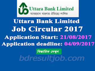 Uttara Bank Limited Probationary Officer Job Circular 2017