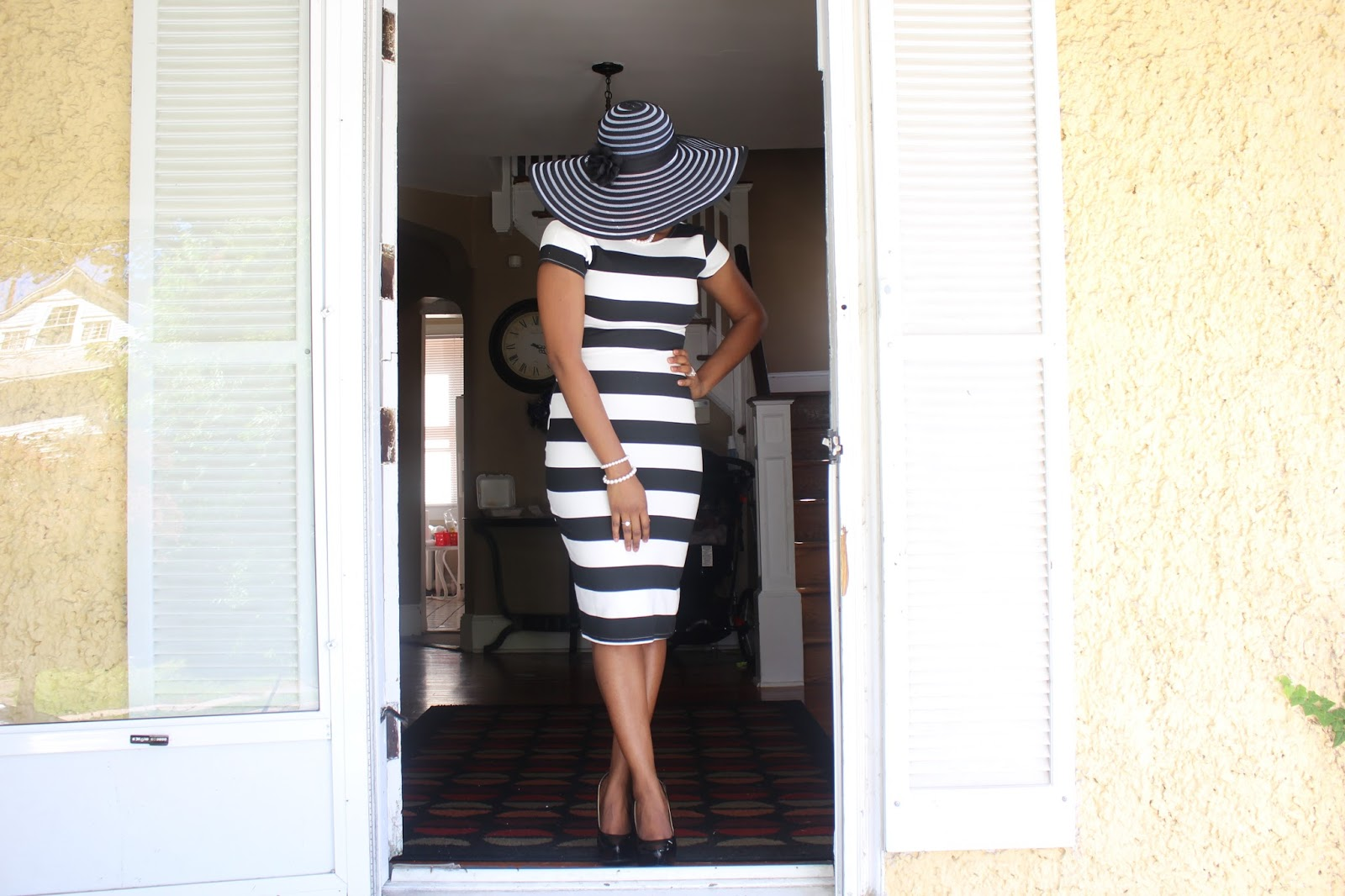 My Style Oasis, SheIn Black & White Striped Short sleeve Dress, FREE SHIPPING with SheIn