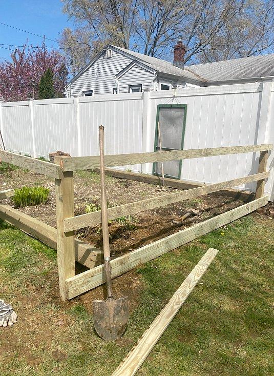 Outdoor garden with fence