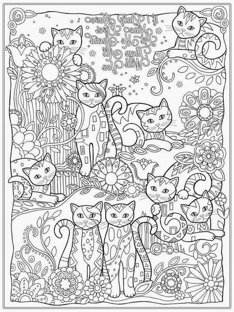 Cat coloring pages for adult realistic coloring pages for Cat color pages