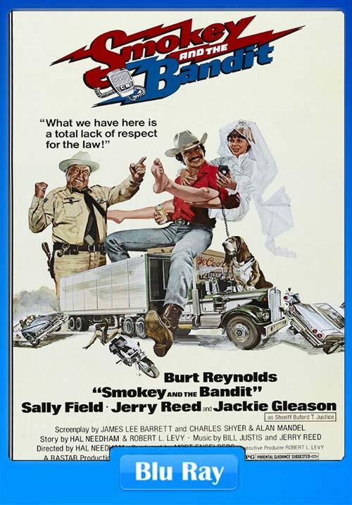 Smokey and the Bandit 1977 Hindi 720p BluRay Dual Audio x264 | 480p 300MB | 100MB HEVC Poster
