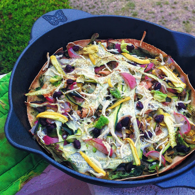 The Easiest Gluten Free Cast Iron Skillet Pizza (Vegan Option)