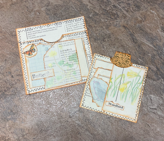 Junk Journal Pockets & Tags Using Edith Holden Images
