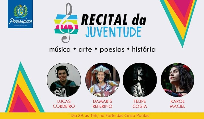De Umbuzeiro: Felipe Costa participará do Recital da Juventude em Recife