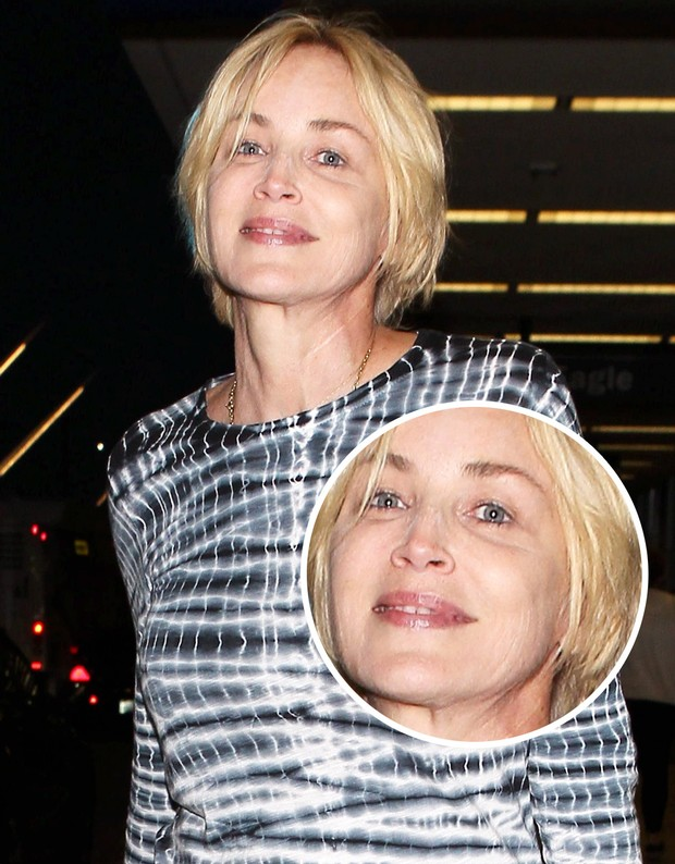 Sharon Stone shows signs of age to 57 years